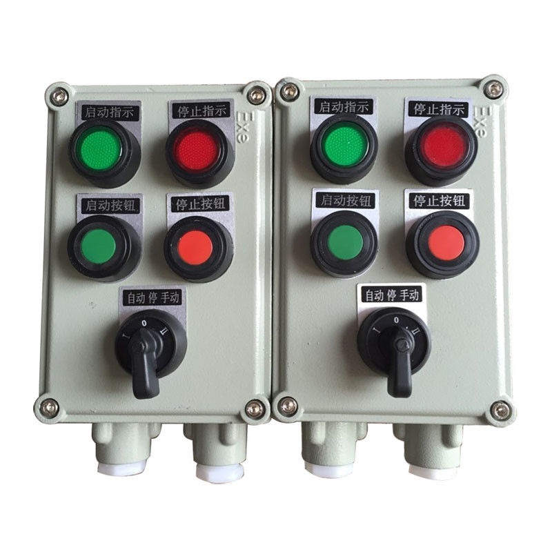 Door Mounted Explosion Proof Control Station , Chemical Plant Start Stop Control Box