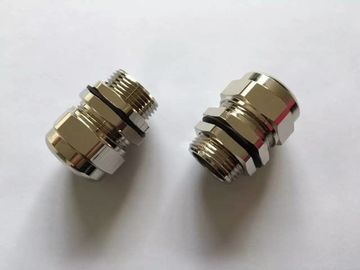 Eexd / Eexe Brass Explosion Proof Connectors For Cable Wiring Pipe Union